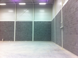 Topargex bij de bouw van sporthallen als lichte en geluidsabsorberende betonblok